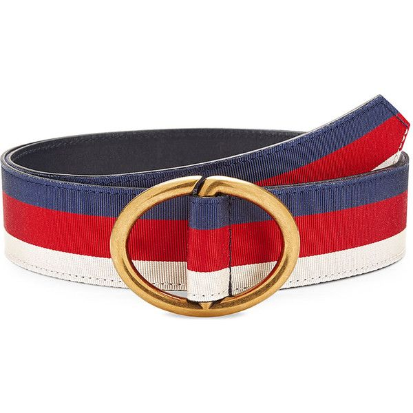 e50ae7754f7 Gucci Men s Web Belt with Gold Buckle ( 295) ❤ liked on Polyvore featuring  men s fashion
