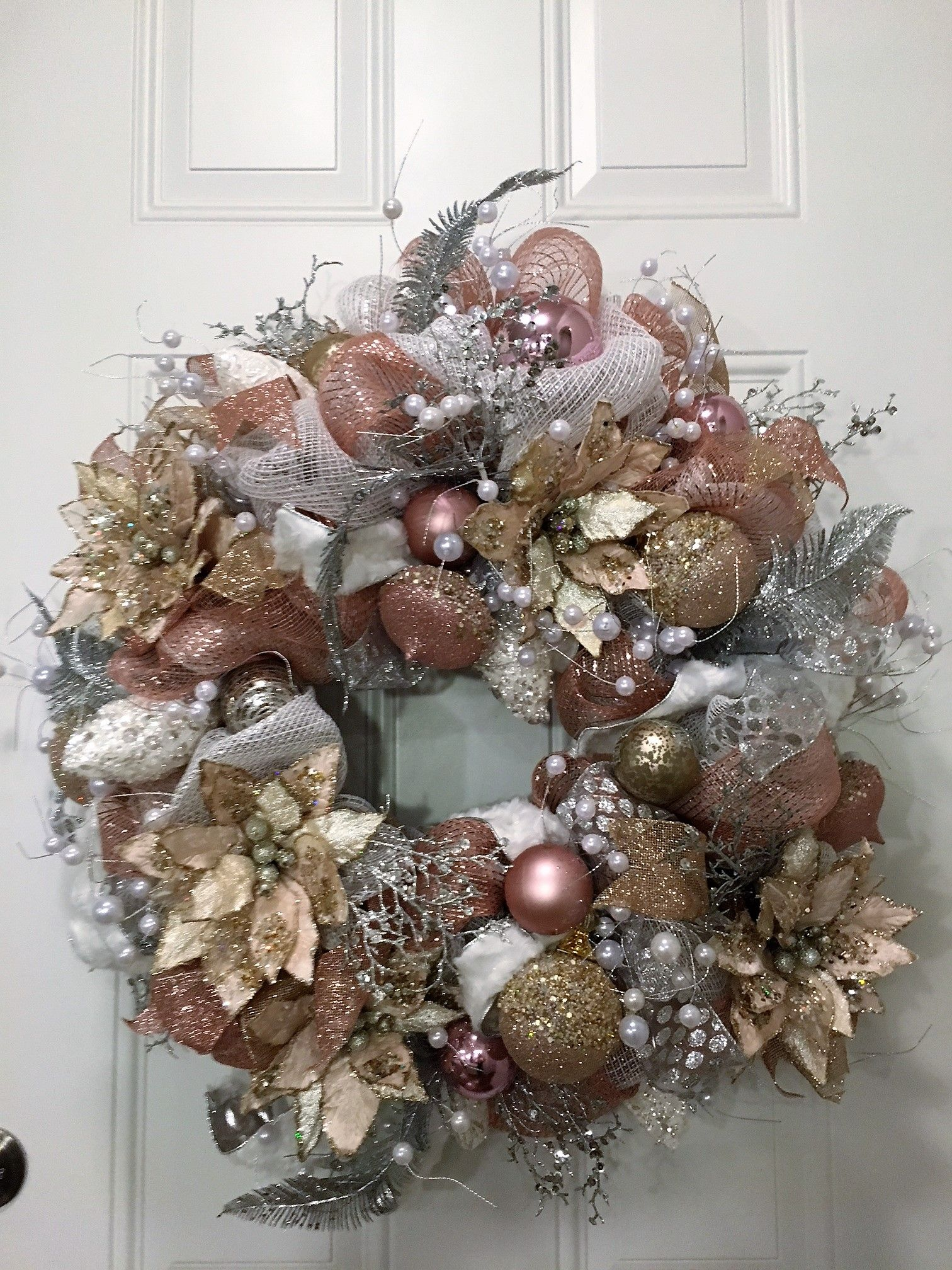 Chanel Theme For This Beautiful 28 Christmas Tulle Mesh Wreath
