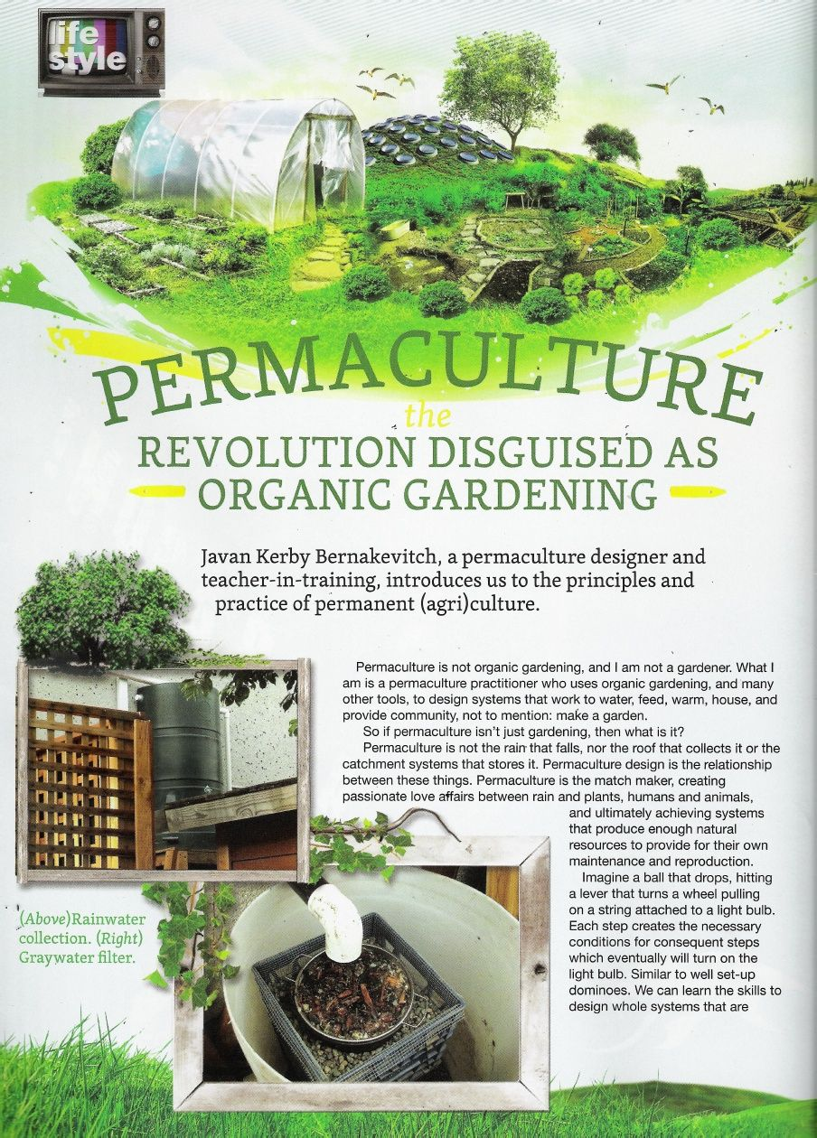 Permaculture Revolution Disguised as Organic Gardening ...