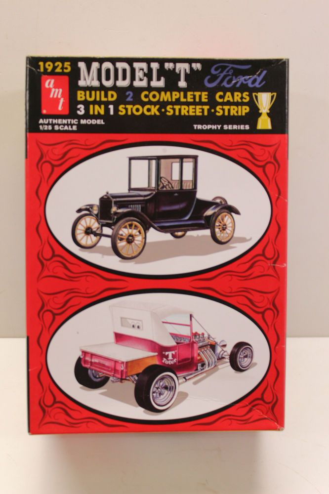 Amt 25 Model T Ford Double Kit 1 25 Scale Vtg Modelkit Monogram