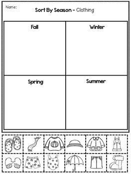 Seasons Activities And Printables Em 2020 Com Imagens