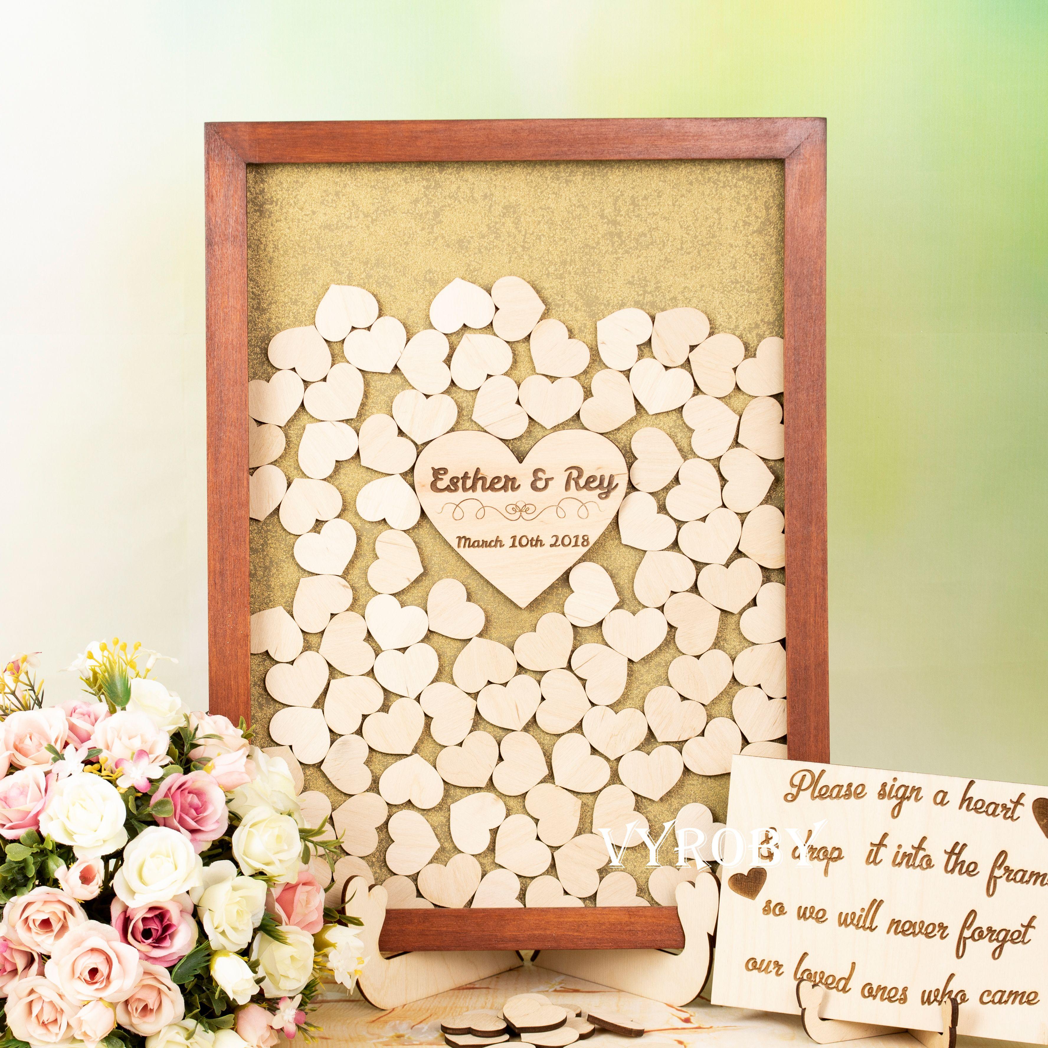 Fall wedding decor ideas  Fall wedding guest book wood Wedding decor ideas Guestbook for