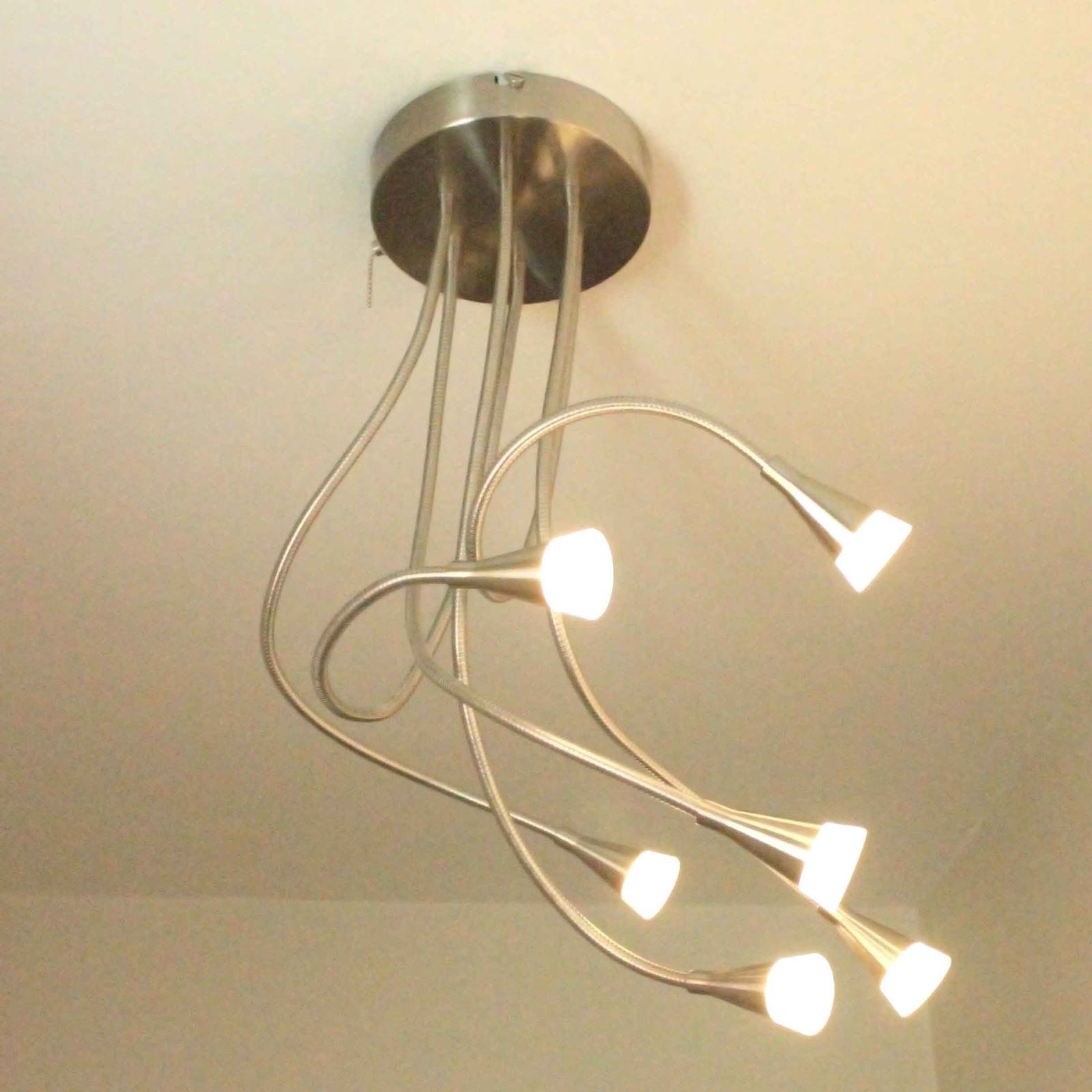 Led Ceiling Light With Flexible Arms Pull Chain Light Fixture Antique Light Fixtures Light Fixtures