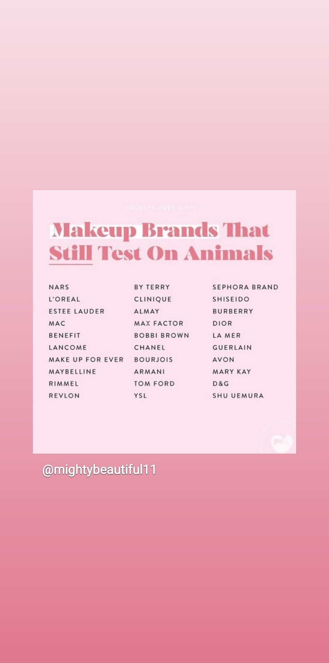 Do You Notice That Senegence Is Not On This List So Important To Me Sephora Brands Guerlain Makeup Senegence