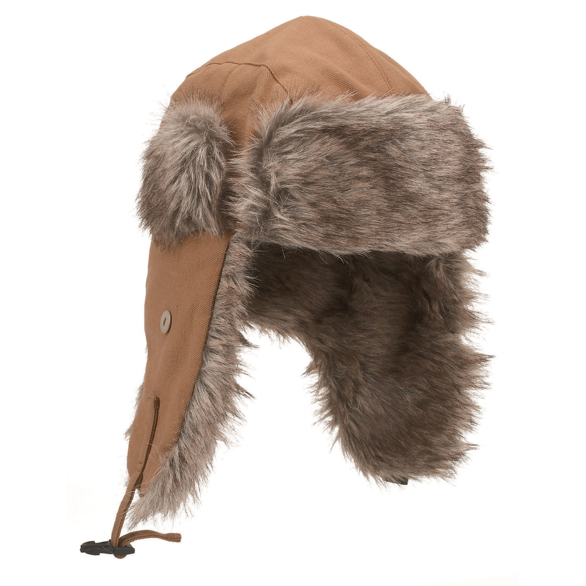 76bd43b6c4165 100% cotton canvas trapper hat is insulated with 40 grams of Thinsulate™  for comfort in extremely cold weather. Faux fur-lined earflaps and front  flap offer ...