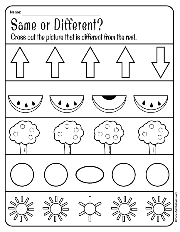 Same And Different Worksheets For Preschool Free Download Free Preschool Worksheets Preschool Learning Preschool Activities At Home