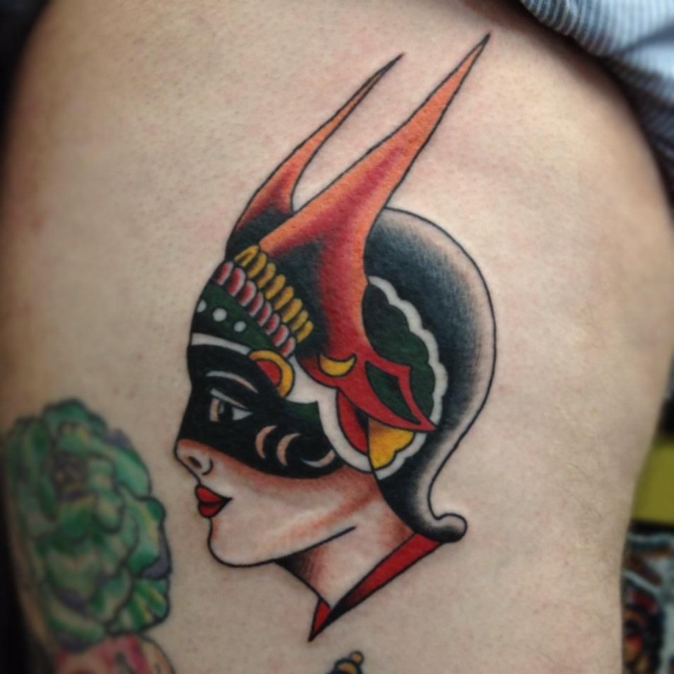 Traditional dietzel girl tattooed by christian lain for Tattoo corpus christi