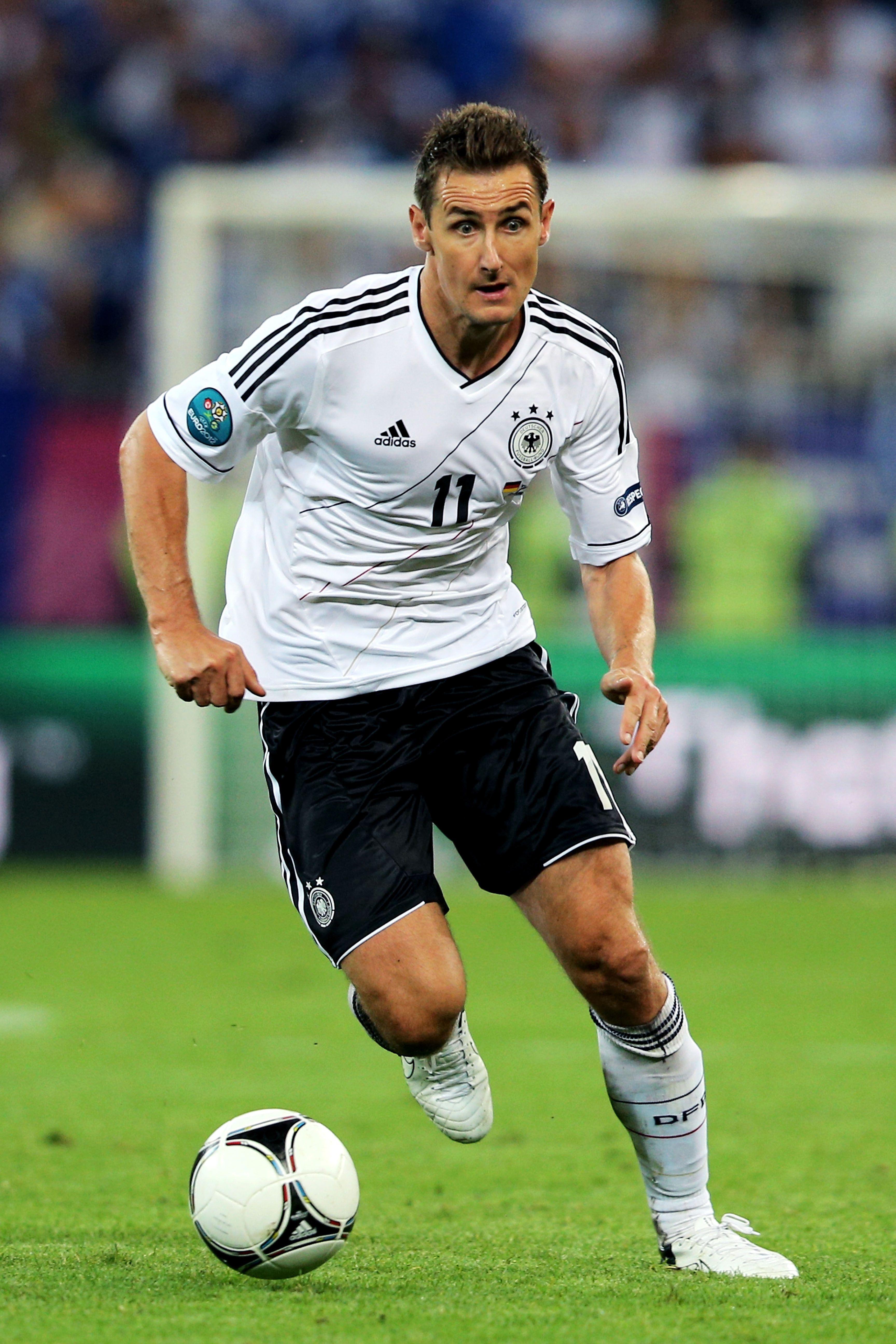 Miroslav Klose On The Germany National Team Lazio Striker Most World Cup Goals 16 Miroslav Klose Lendas Do Futebol Bayern