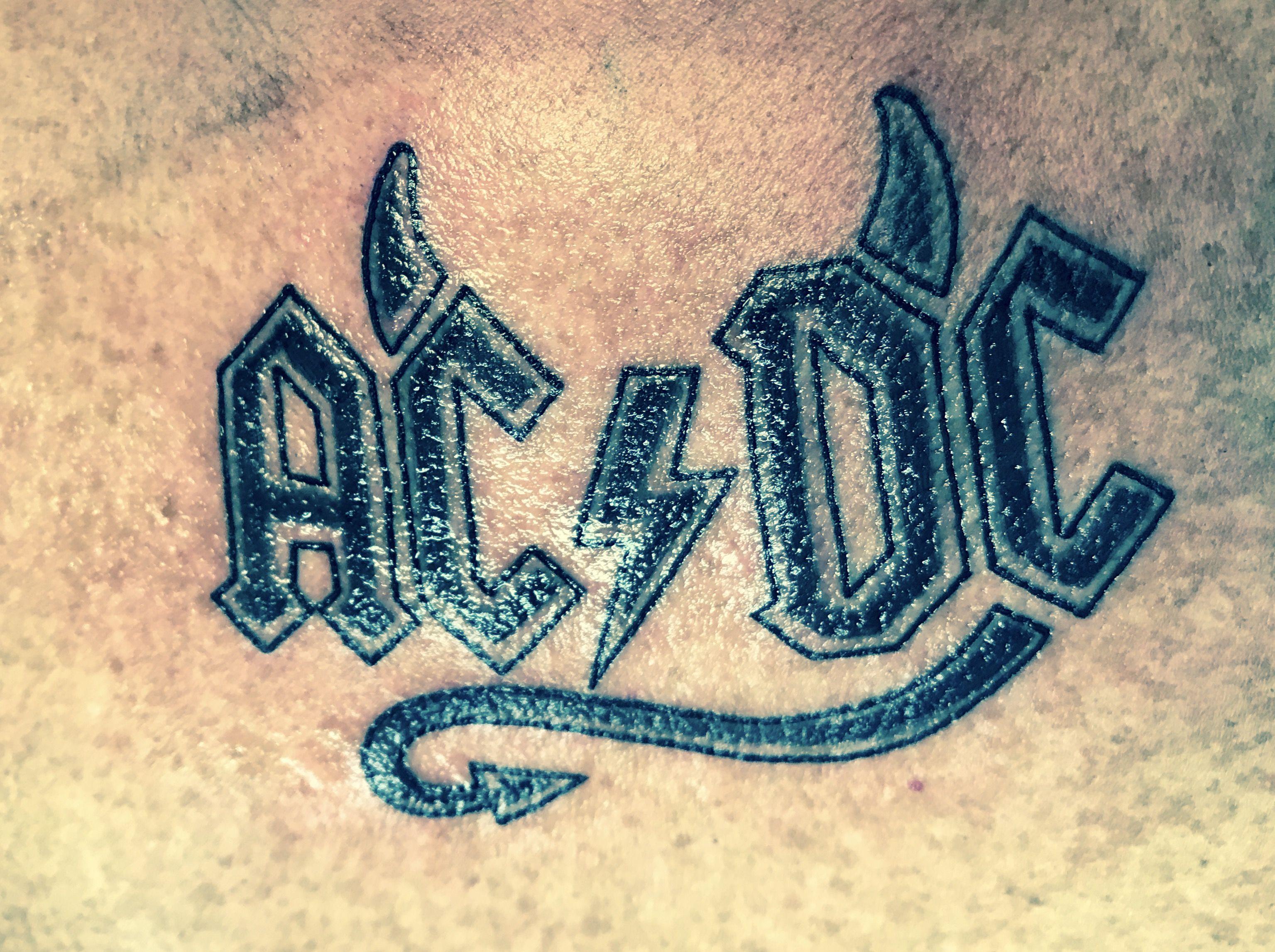 Ac Dc Tatoo Rock N Roll Tattoo Sleeve Tattoos