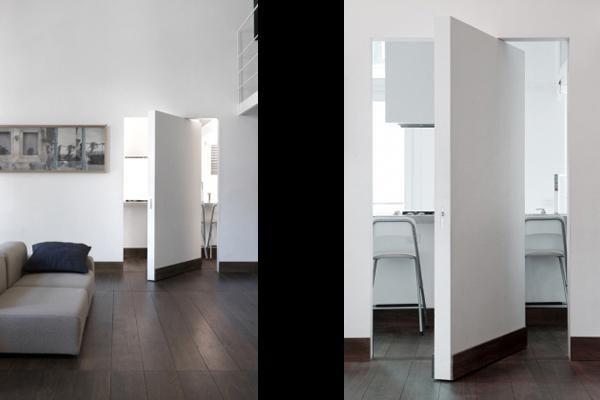 A peindre - Invisible sur Pivot Passage-porte Bricolage en