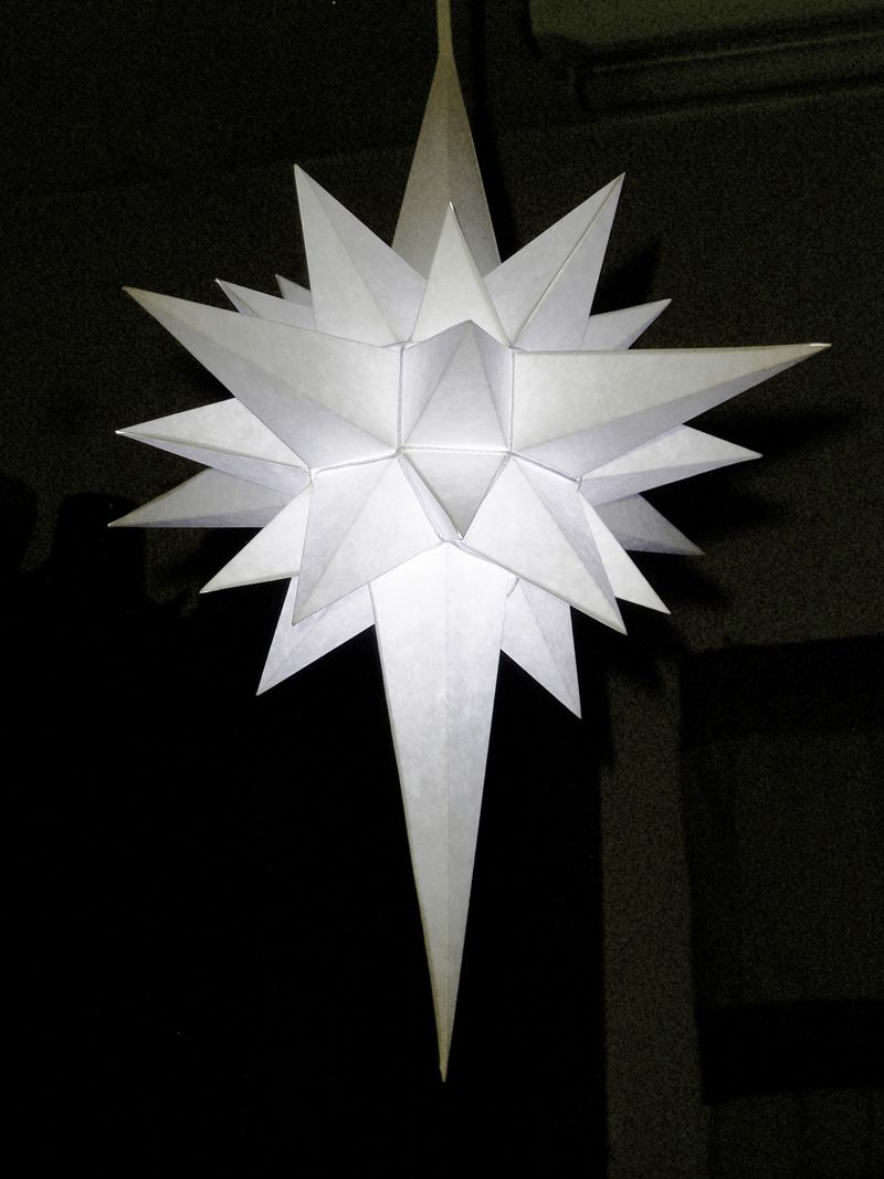 How To Make A Paper Star Of Bethlehem This One Can Be Illuminated