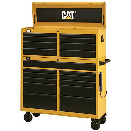 cat 19 drawer ball bearing tool chest and cabinet combination 52 rh pinterest com