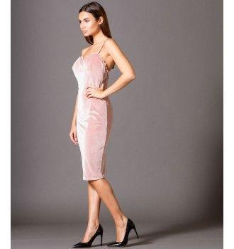 80fd403b390c Βελούδινο Φόρεμα με Ραντάκι και Δαντέλα - Μake up