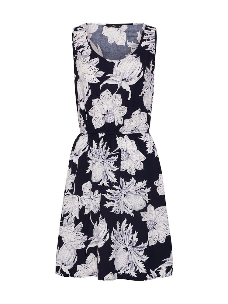 ONLY Kleid 'NOVA SARA' Damen, Blau / Weiß, Größe 44