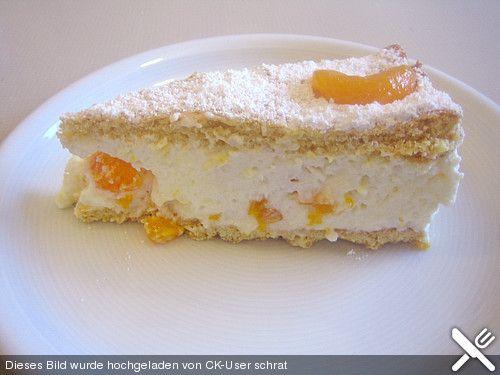 Quark Sahne Torte Mit Mandarinen Gedeckt Rezepte Kuchen