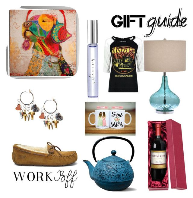 """""""Gift Exchange"""" by jessica-burt-kerr on Polyvore featuring interior, interiors, interior design, home, home decor, interior decorating, UGG Australia, Kate Spade, Old Dutch and Boohoo"""