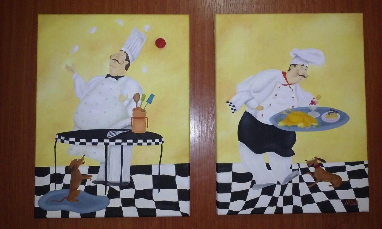 Cocineros cuadros para cocina dibujos y pinturas nm - Cuadros de cocina ...