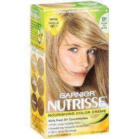 Garnier Nutrisse Haircolor 81 Medium Ash Blonde Vanilla Malt