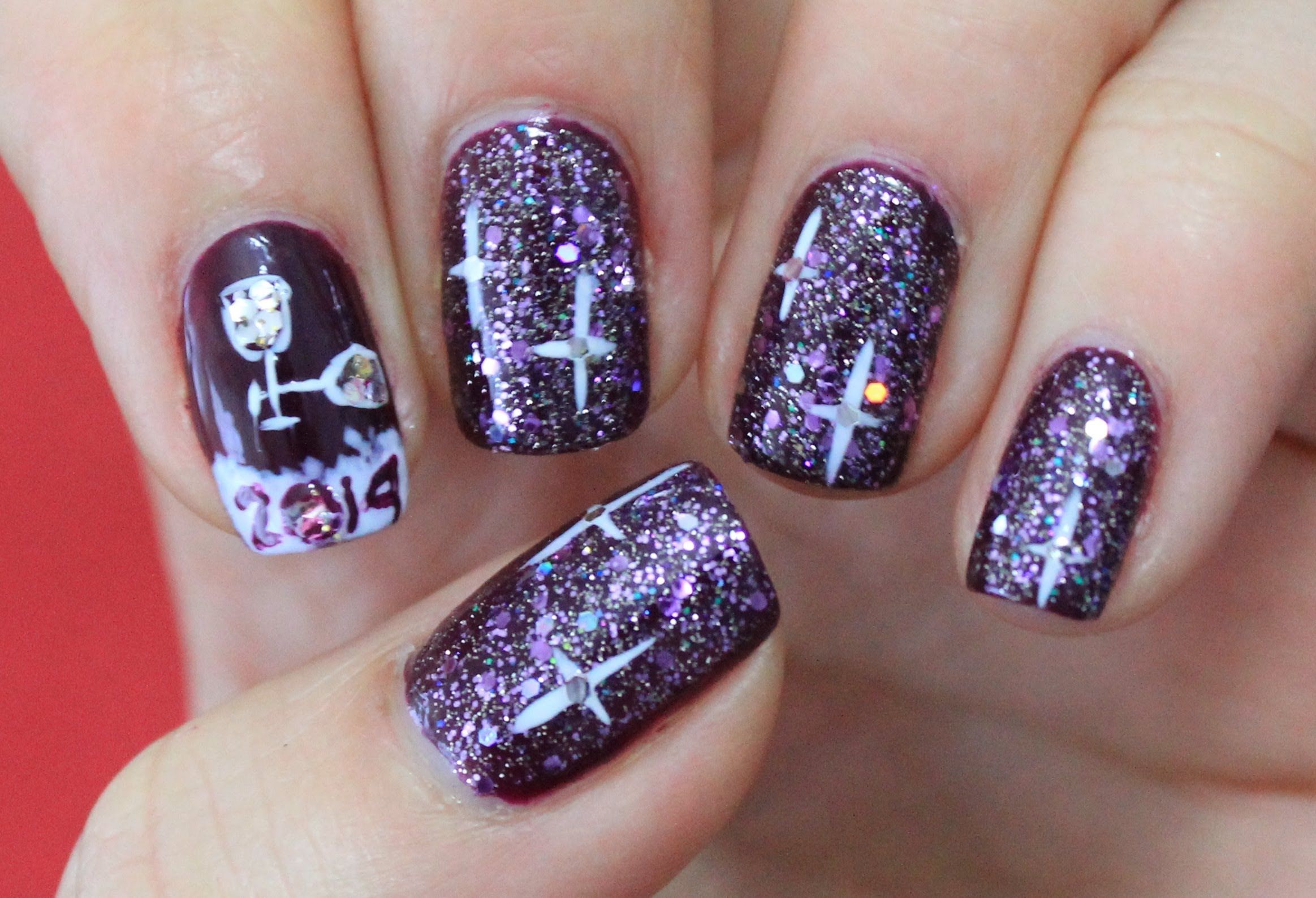 new year nailart 2014 | ∆∆Pretty Nails∆∆ | Pinterest | Pretty nails