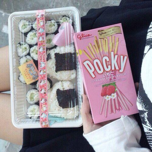 Onigiri Cute Wallpaper Aesthetic Baby Girl Pink Pocky Sushi в 2019 г
