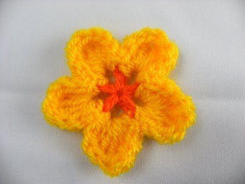 Einfache Blume Häkeln Anleitung Youtube Häkeln Pinterest
