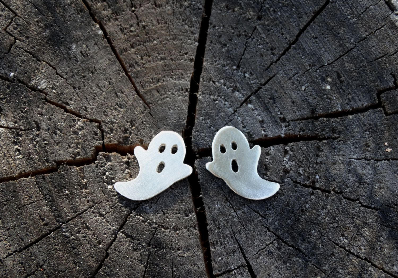 Pendientes fantasma/ Pendientes plata fantasma/ Pendientes halloween/ Joyeria…