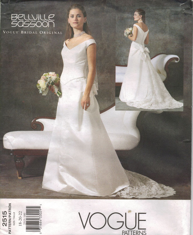 Vogue sewing pattern 2515 misses wedding dress size 6 10 vogue sewing pattern 2515 misses wedding dress size by chails01 jeuxipadfo Gallery