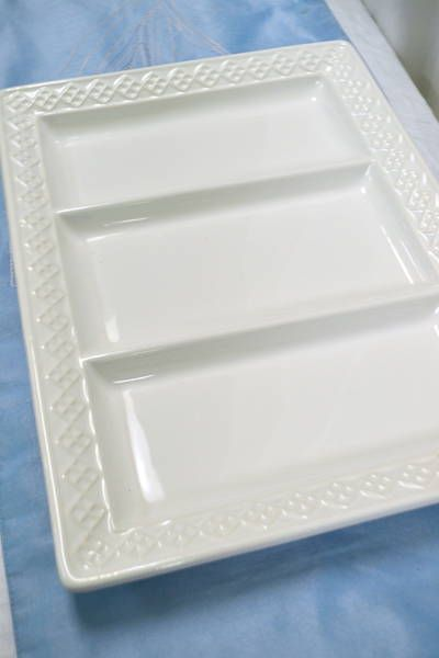 """Decorative Plastic Serving Trays Classy Ceriart Sa"""" White Divided Serving Tray  Made In Portugal  15 Inspiration"""