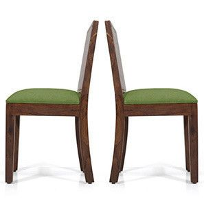 Oribi Dining Chairs Set Of 2 Teak Finish Avocado Green Dining Chairs Buy Dining Chairs Dining Chair Design