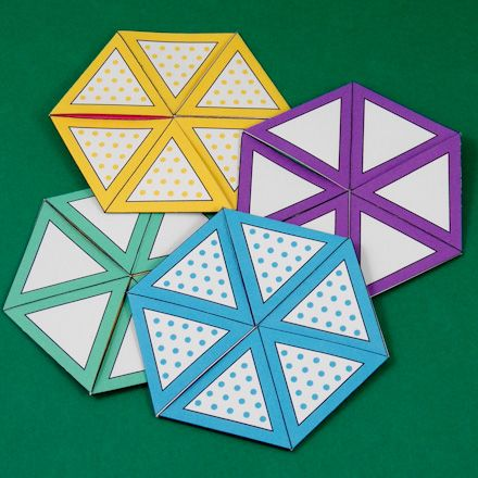 Flexagon Craft Project Template, Patterns and Origami - hexaflexagon template