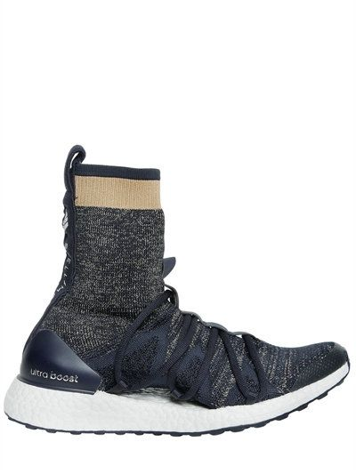 Adidas By Stella Mccartney Ultra Boost Primeknit High Top Sneakers BlueGold Women Shoes 2018 official shoes
