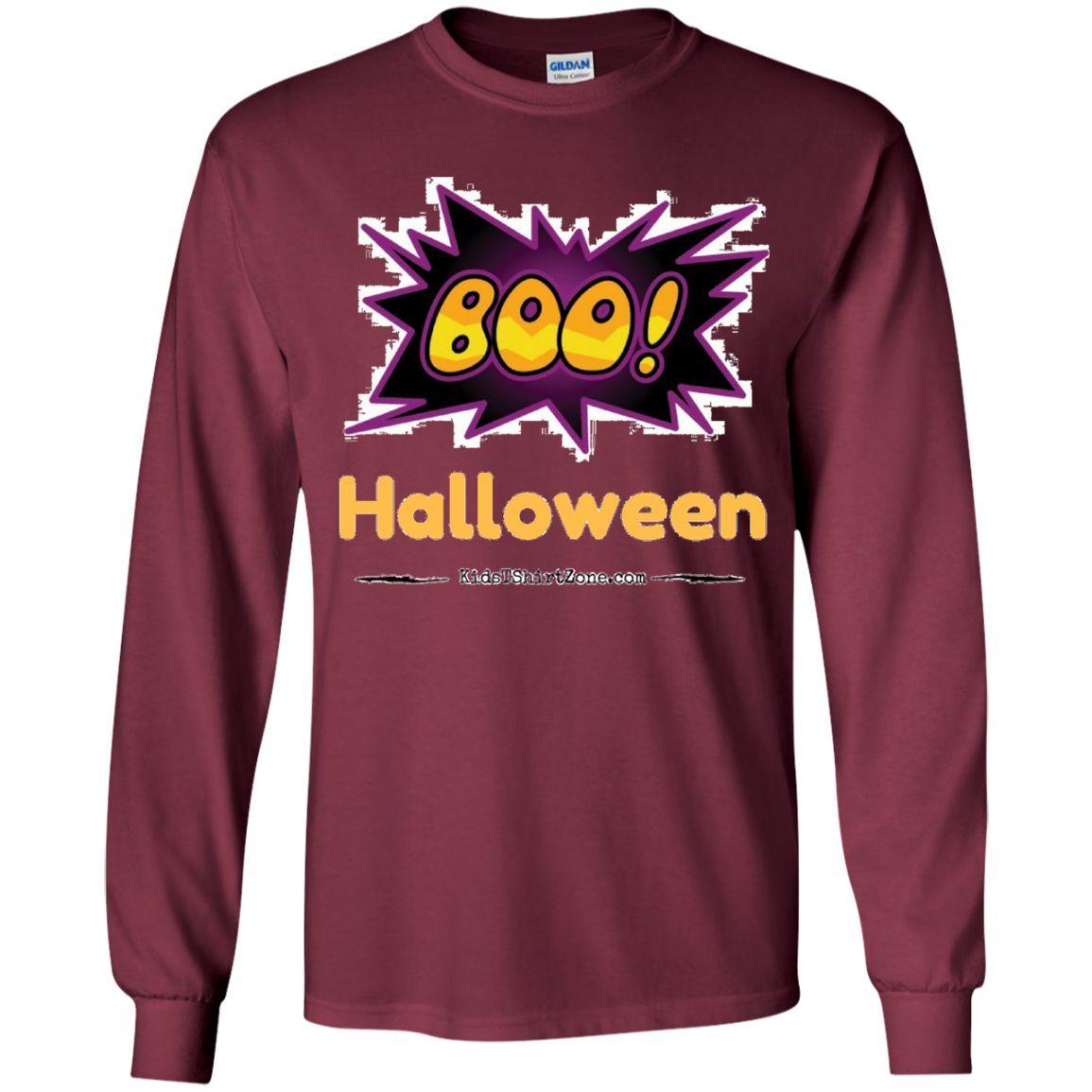 Youth Long Sleeve Shirt - Boo - Halloween