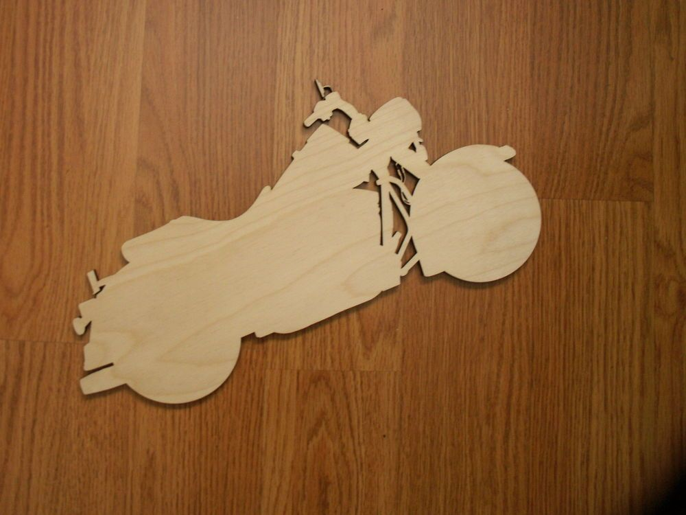 Motorcycle Wood Shape, Laser Cut, Ready to Paint Woodcraft ...