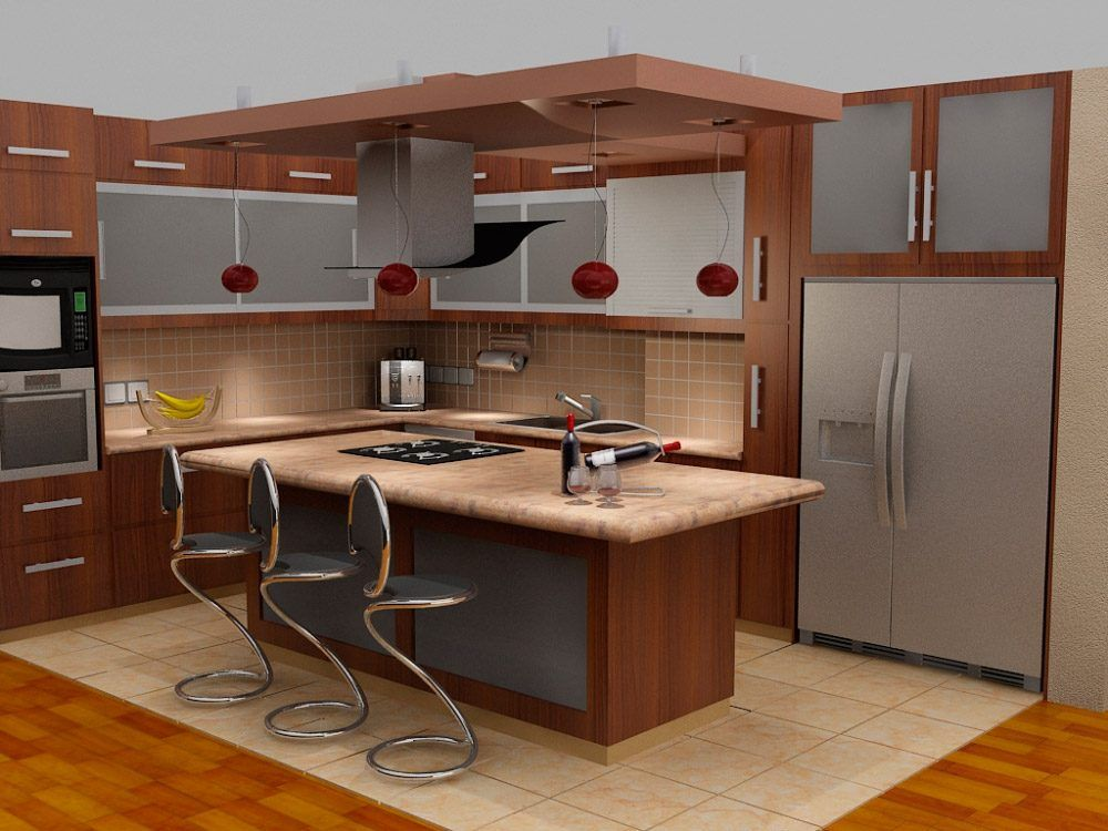Cocinas con islas para espacios peque os buscar con for Modelos de cocinas con islas
