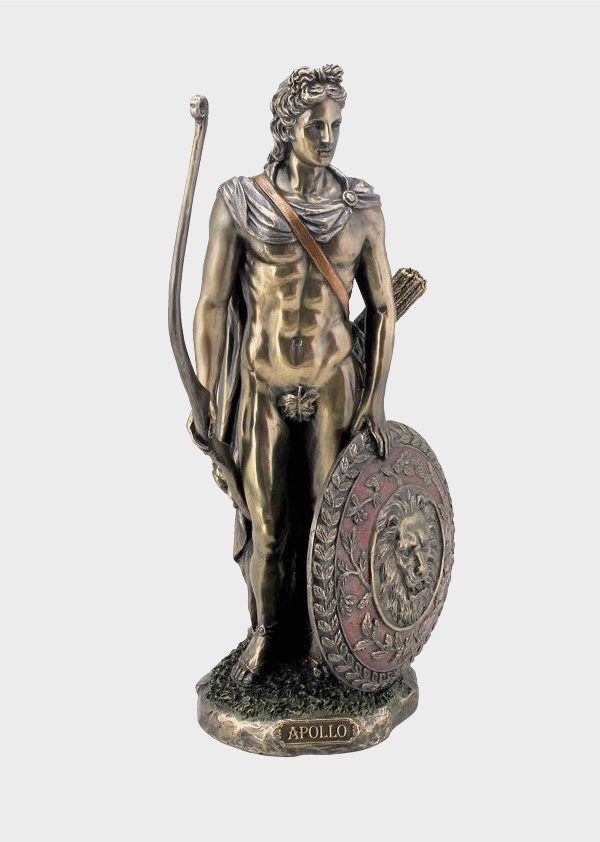 Antiques Antiquities Roman Bronze Figurine Of God Apollo For Fast Shipping