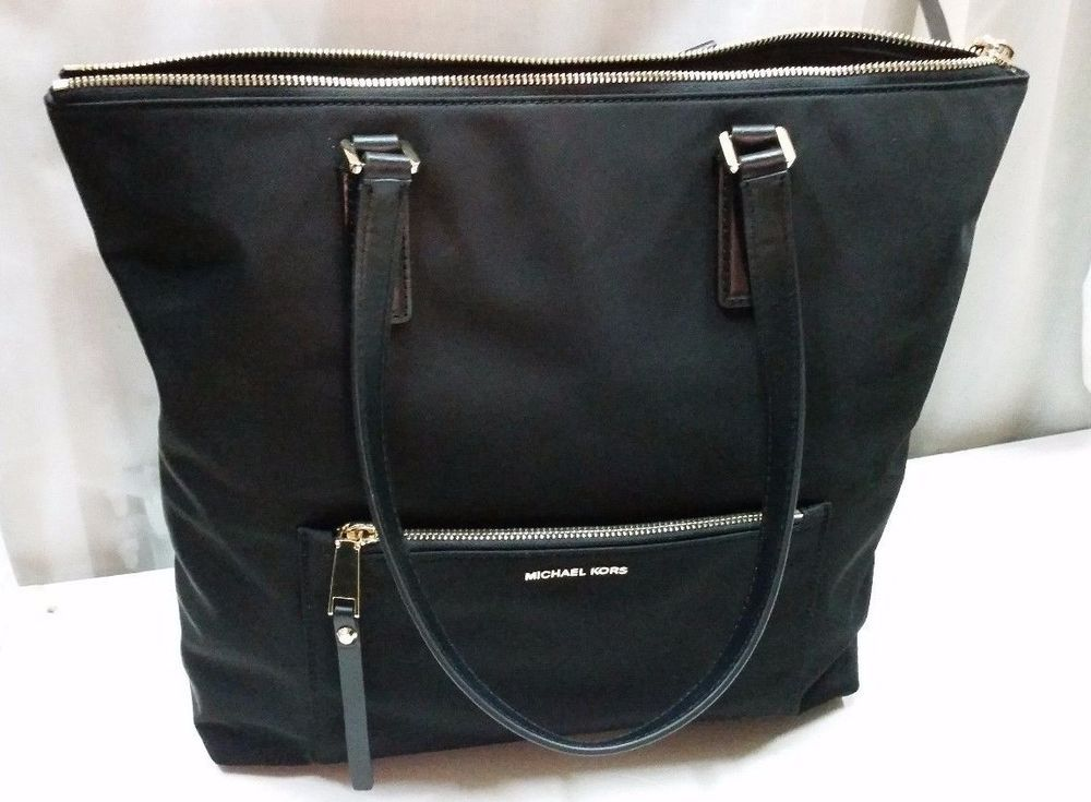 bf2f8c26f00007 MICHAEL KORS ARIANA NORTH/SOUTH TOTE BLACK NYLON LARGE BAG - GREAT  CONDITION #MichaelKors #Tote