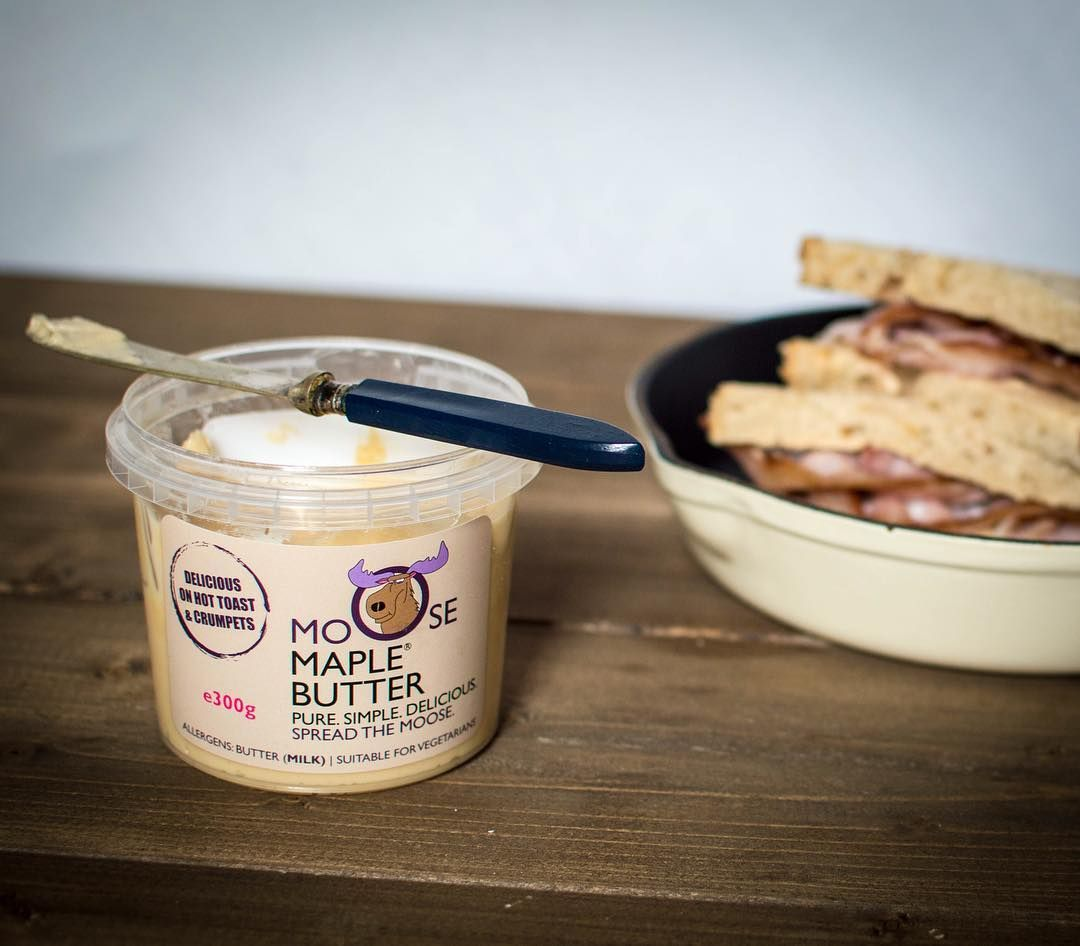 We've decided to make breakfast easy for you with our FIVE STEPS to an EPIC weekend breakfast.  1. Buy Moose Maple Butter  @partridgesfoods  2. Fry Bacon in lots of Moose Maple Butter  3. Place (now delicious) bacon in bread (also buttered with Moose Maple)  4. Take a big bite.  Close eyes. Emit loud sounds of satisfaction whilst experiencing heaven.  5. Repeat.  #baconsandwich #moosemaplebutter #maplebutter #breakfast #brunch #bacon #becauseyourtoastisworthit #realbutter #the_wild_flours…