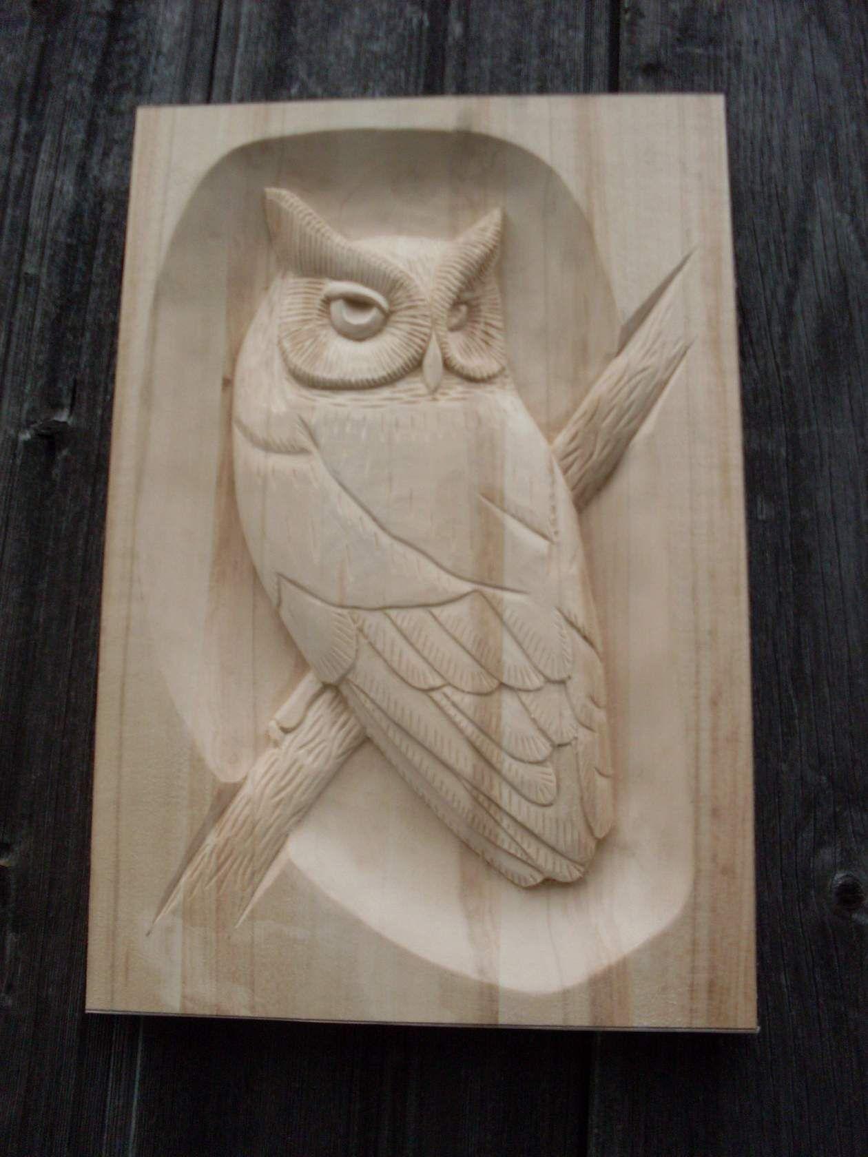 Carved wooden owl plaque owl always ℓσνє u wood carving art