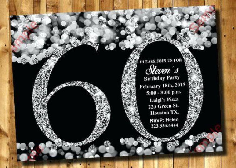 60th Birthday Party Invitations Online