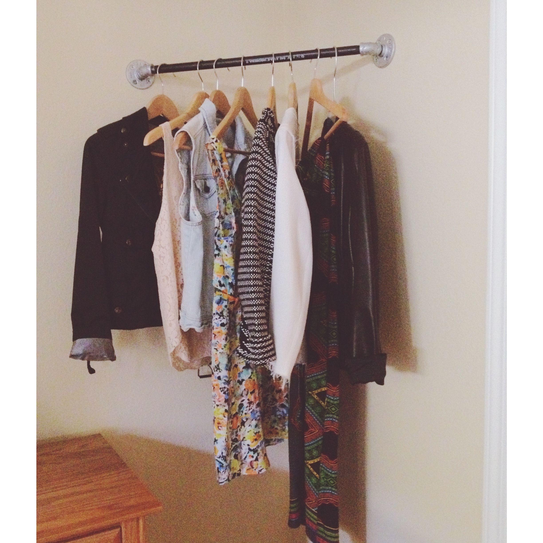 corner garment rack diy from home depot build it. Black Bedroom Furniture Sets. Home Design Ideas
