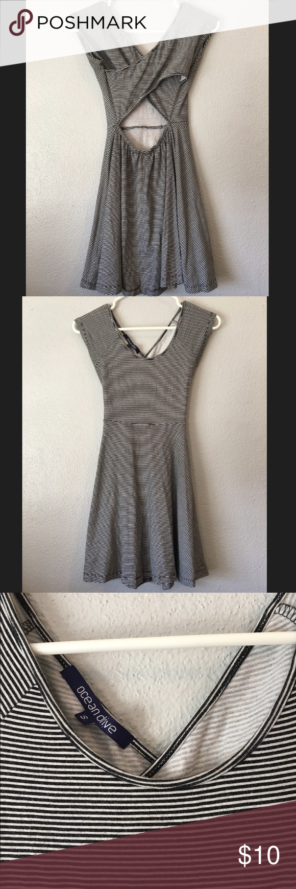Striped skater dress open back Striped skater dress open back size small/XS Dresses Mini