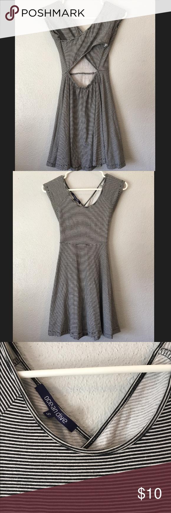 Striped skater dress open back Striped skater dress open back size small/XS Dresses Mini
