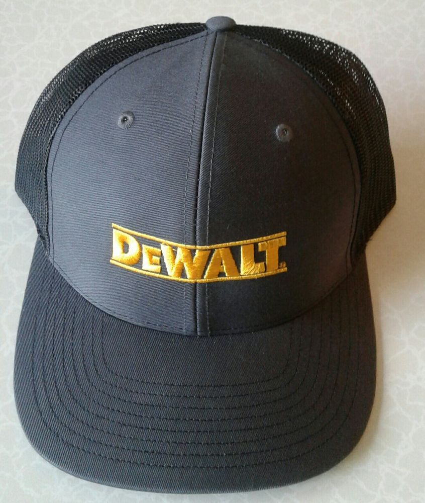 30264fc8d6f8fd Richardson DeWalt Embroidered Spell Out Cap Gray Mesh Back Snapback Work Hat  #fashion #clothing #shoes #accessories #mensaccessories #hats (ebay link)