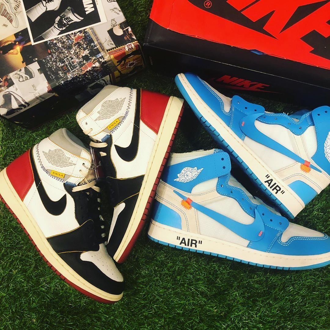 Jordan 1 Retro High Off White University Blue In 2020 With Images