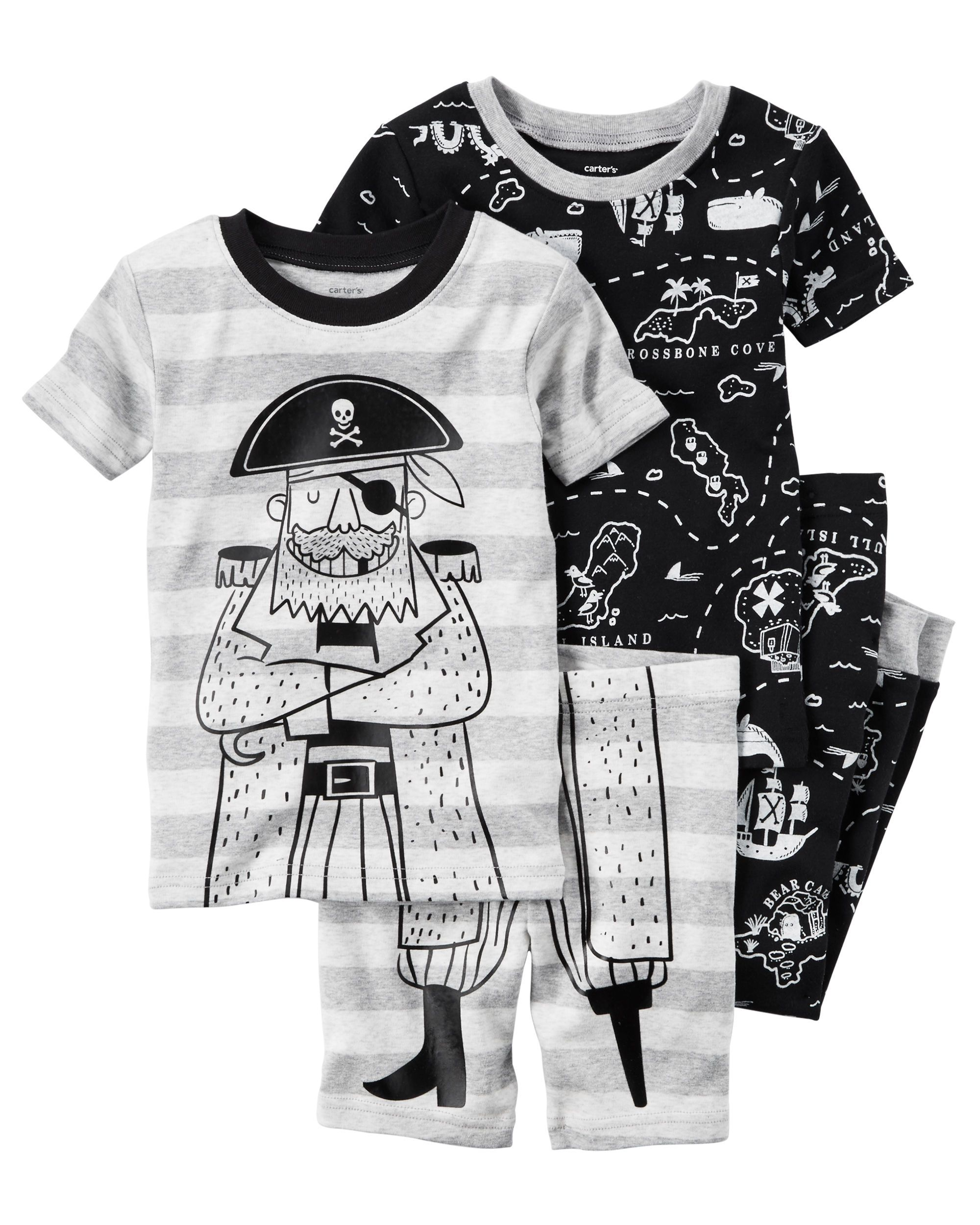 1bf5c0d2ffd1 NEW Carters 4 Piece Pirate Themed PJs NWT 2T 3T 4T Boys Pajamas Captain Boys  Pajama