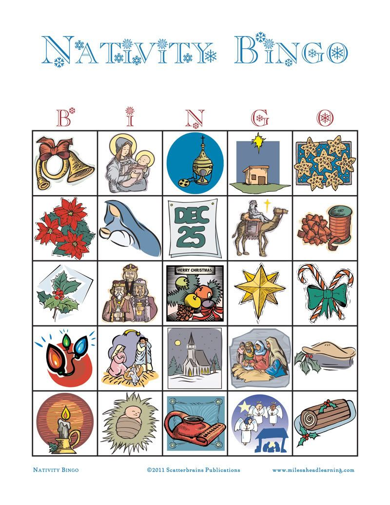 Free nativity bingo