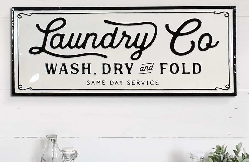 Metal Laundry Co Sign In 2020 Laundry Signs Utility Room Designs Signs