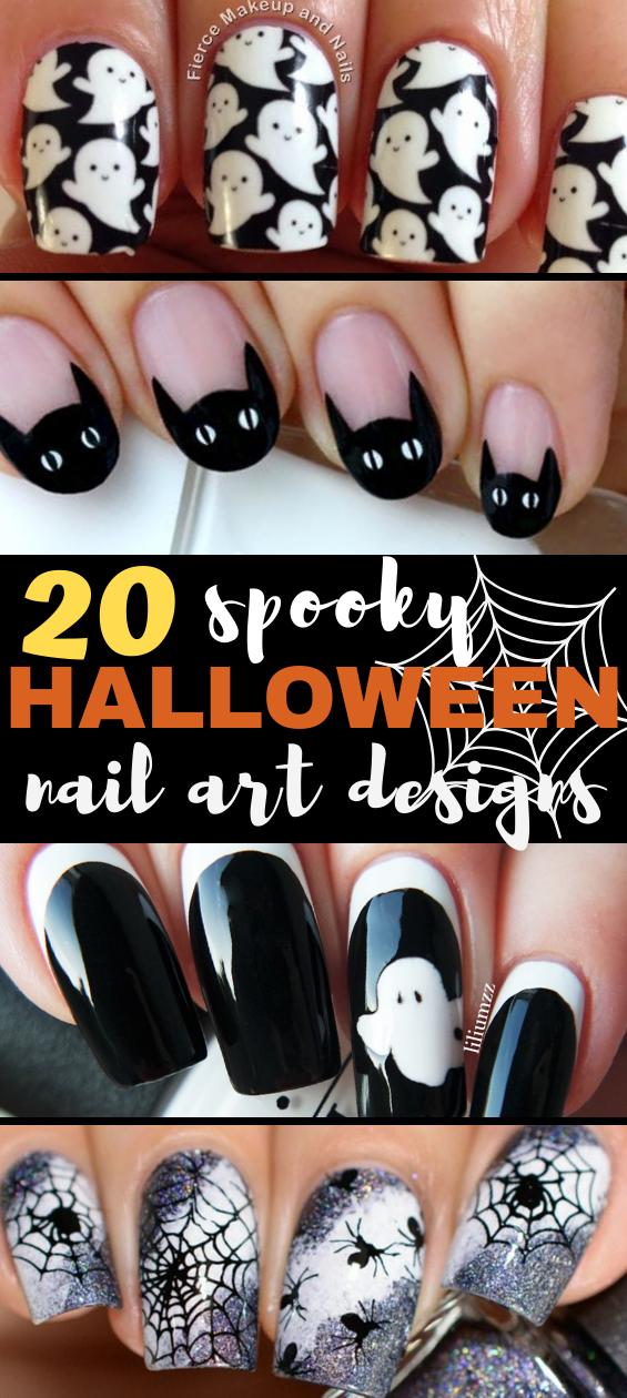 20 Halloween Nail Art Ideas That Ll Make You Boo Tiful Halloween Nails Halloween Nail Art Halloween Nails Easy