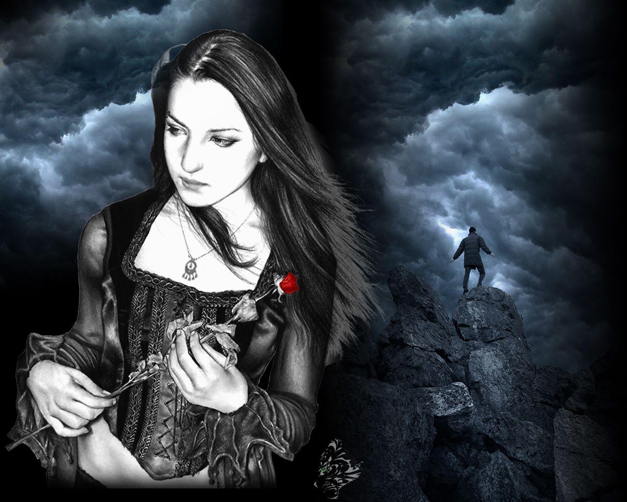 Dark Gothic Wallpaper 1280x1024 Dark Gothic Goth Punk Rockabilly