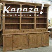 grote boekenkast in teak kasten meer kapazabe
